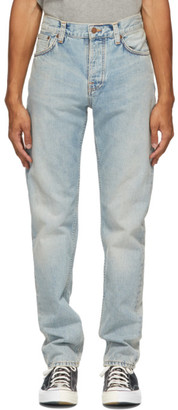 Nudie Jeans Blue Faded Steady Eddie II Jeans