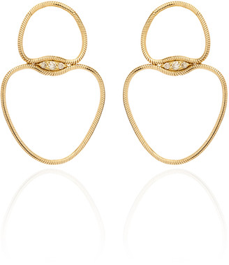 Fernando Jorge Fluid Small Chain Diamond 18K Yellow Gold Earrings
