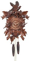 River City Clocks 13-16 One Day Hand-Carved Cuckoo Clock with Seven Maple Leaves, Three Birds, And Nest, 16-Inch Tall