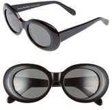 Acne Studios Women's Mustang 47Mm Oval Sunglasses - Black