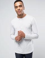 G-star Riban Long Sleeve Top In Grandad Collar