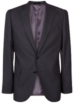 Jaeger Wool Pick And Pick Regular Suit Jacket, Charcoal