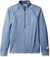Wrangler Men's Cool Vantage Half Zip Long Sleeve Pullover