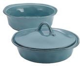 Rachael Ray Cusine Round Casserole and Lid Set (3 PC)