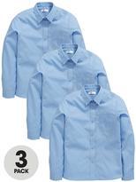 Very Schoolwear Girls Long Sleeve School Blouses - Blue