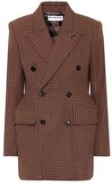 Balenciaga Houndstooth wool-blend blazer