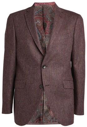 Etro Paisley-Lined Herringbone Jacket