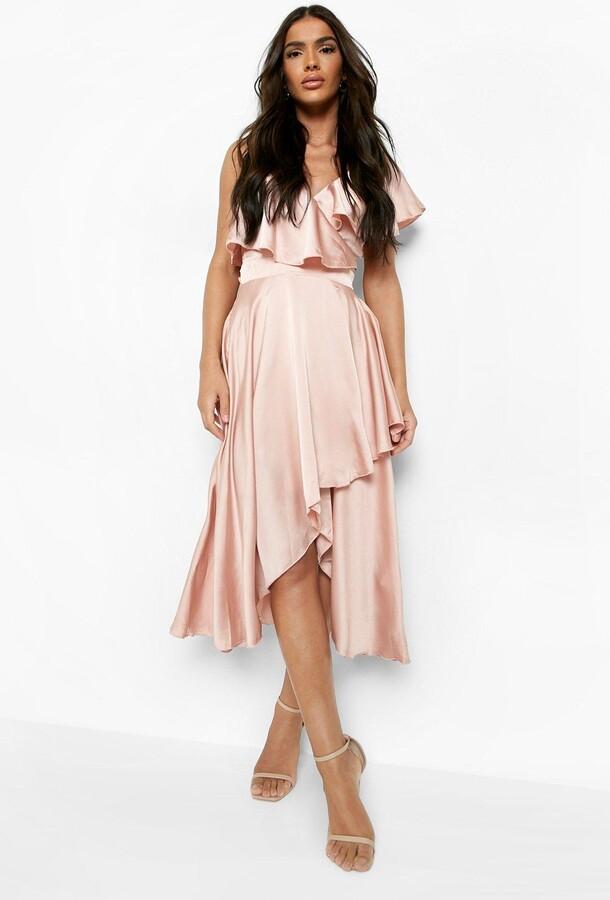 c20a41f5636f1 boohoo Pink Satin Dresses - ShopStyle UK