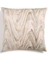 "LAST ACT! Hallmart Collectibles Blush Abstract-Print 18"" Square Decorative Pillow"