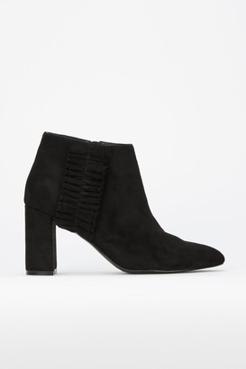 Wallis **Black Ruffle Detail Pointed Ankle Boot