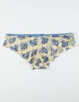 Blue Floral Lace Panties
