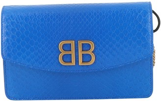 Balenciaga BB chain Blue Exotic leathers Handbags