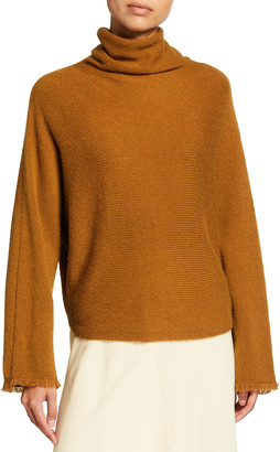 Vince Dolman Sleeve Wool-Blend Turtleneck Sweater