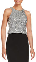 Adrianna Papell Sequined Halter Top