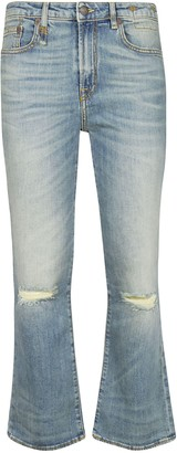 R 13 Kick Fit Flared Leg Jeans