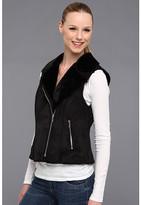 Calvin Klein Faux Shearling Vest w/ Zip