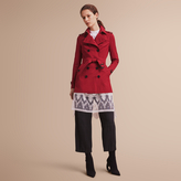 Burberry The Sandringham - Short Heritage Trench Coat , Size: 10, Red