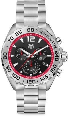 Tag Heuer Formula 1 43MM Stainless Steel Quartz Tachymeter Chronograph Bracelet Watch