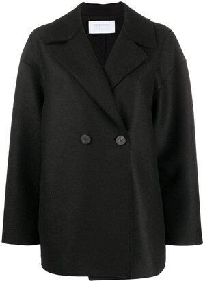 Harris Wharf London Double-Breasted Wool Peacoat
