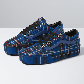 Vans Patent Plaid Old Skool Platform
