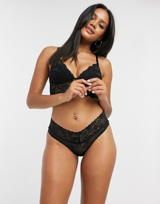 aerie lace brief in black