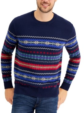 Club Room Men's Fair Isle Sweater, Created for Macy's