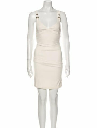 Preen by Thornton Bregazzi V-Neck Mini Dress White