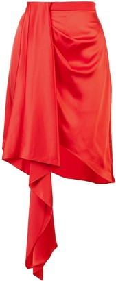 Fleur Du Mal Asymmetric Draped Skirt