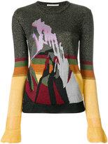 Marco De Vincenzo contrast colour printed sweater