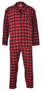 Hanes Men's Big and Tall Flannel Plaid Pajama Set