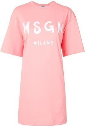 MSGM logo-print T-shirt dress