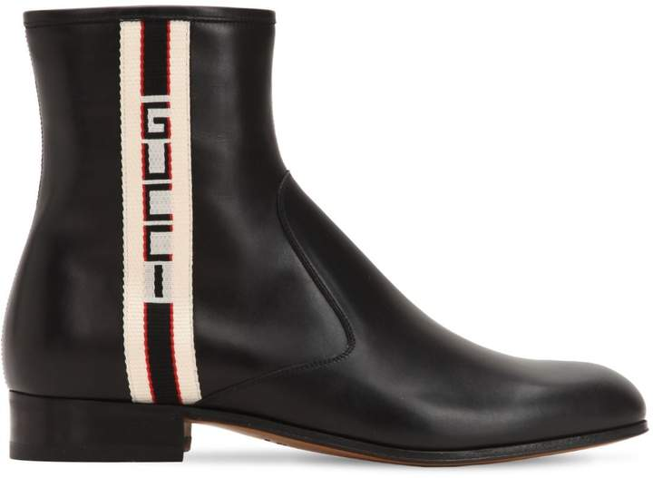 Gucci Bonny Web Sport Leather Boots