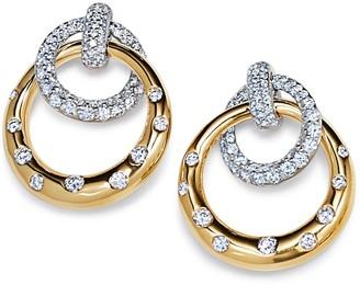 Kwiat Cobblestone Pave Diamond Drop Earrings