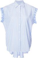 Tome ruffled detail striped shirt - women - Cotton - 0