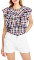 J.Crew J. Crew Danny Hula Plaid Top (Regular & Petite)