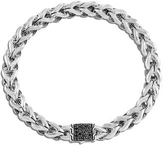 John Hardy Asli Classic Chain Black Sapphire-Clasp Bracelet, Size M