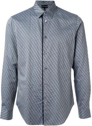 Emporio Armani Long Sleeve All Over Print Shirt