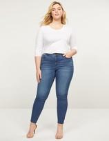 Lane Bryant Curvy Fit High-Rise Skinny Jean - Medium Wash