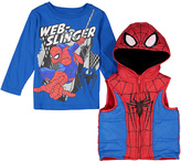 Children's Apparel Network Spider-Man Tee & Hooded Vest - Toddler & Boys