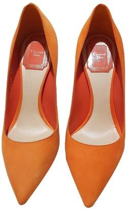 Christian Dior Cherie Pointy Pump Orange Suede Heels