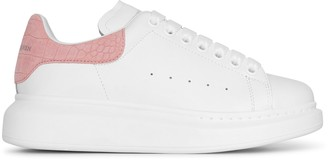 Alexander McQueen White and rose quartz classic sneakers