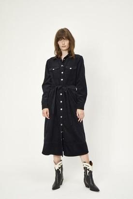 Just Female Harlow Cord Dress Black - S