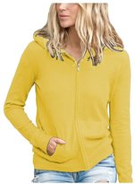 Parisbonbon Women's 100% Cashmere Hooded Cardigan Color Size XS