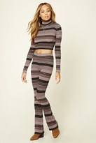 Forever 21 FOREVER 21+ Striped Ribbed Knit Pants