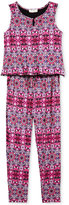 Jessica Simpson Mosaic Jumpsuit, Big Girls (7-16)