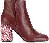 Pollini glitter heel boots