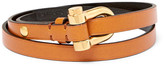 Tom Ford Leather Gold-tone Wrap Bracelet