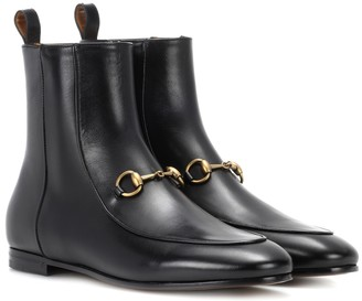 Gucci Jordaan leather ankle boots