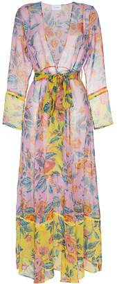 Leone We Are Sheer floral robe