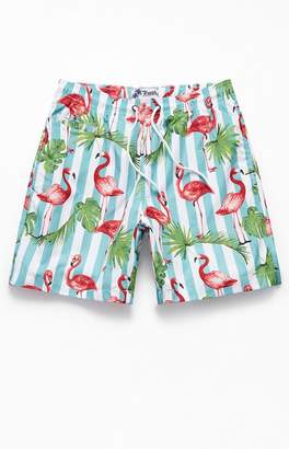 """Trunks Surf & Swim Striped Flamingo 16"""" Swim"""